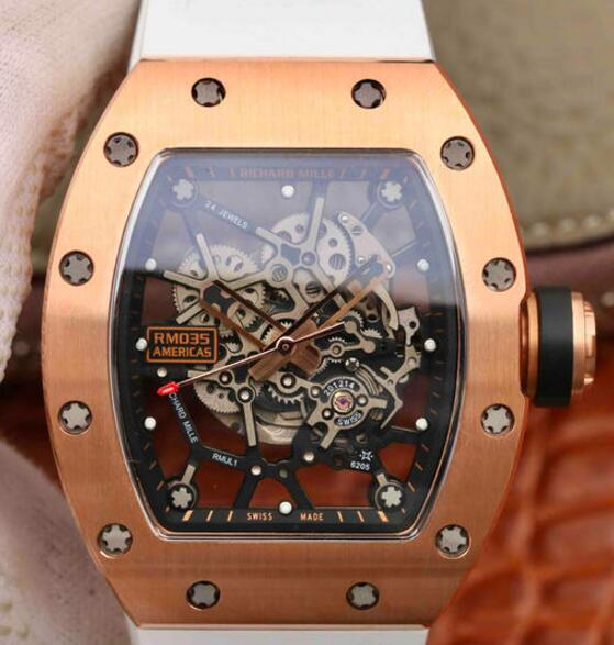 Buying Richard Mille RM035 Americas rose gold replica watch