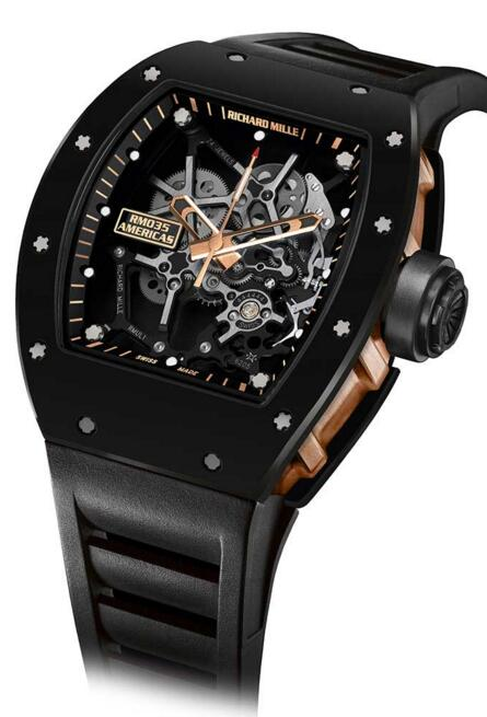 Fake Richard Mille RM 035 Black Toro watch cost