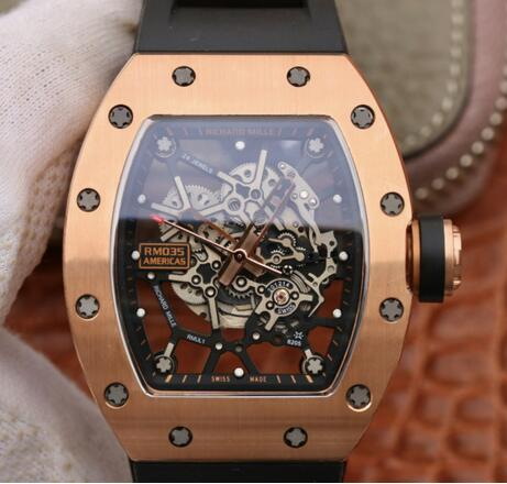 Richard Mille RM035 American bull rose gold replica watches sale