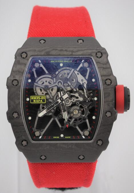 Richard Mille RM035-01 Rafael Nadal Signature Black NTPT Carbon Watch copy