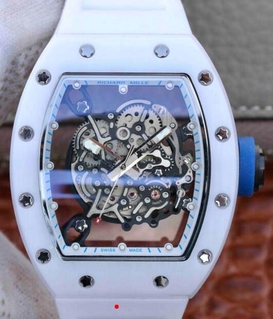 Richard Mille RM055 ceramic automatic white rubber copy watches