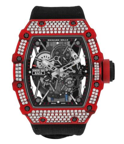 Richard Mille RM35-02 Red Quartz-TPT Diamonds Watch replica