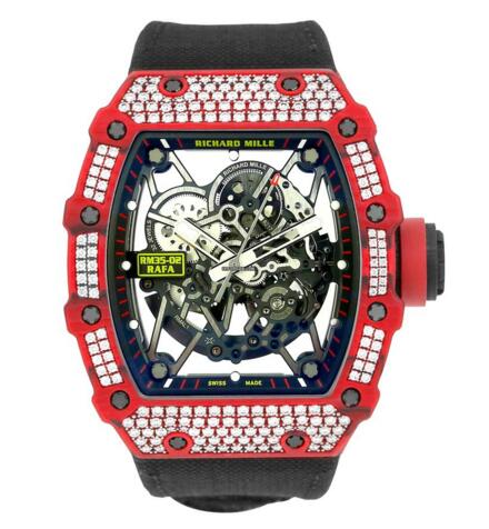 Richard Mille RM35-02 Rafael Nadal Red Quartz TPT Diamond watch prices