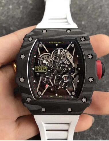 Richard Mille RM35-02 white rubber straps watch