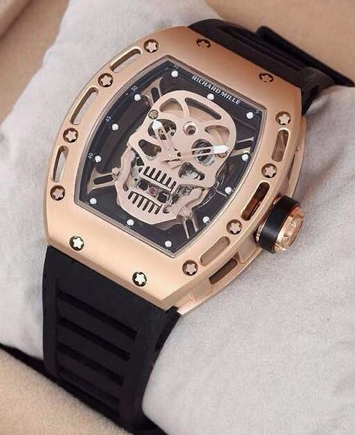 Replica Richard Mille RM 052 Skull Rose Gold Limited Edition Watch
