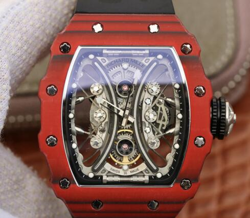 Luxury replica Richard Mille RM53-01 Carbon Automatic black rubber watch