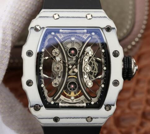 fake Richard Mille RM53-01 Carbon black rubber mens watches