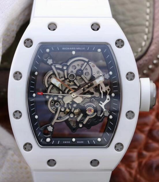 Richard Mille Rm055 White Ceramic and Titanium watches prices