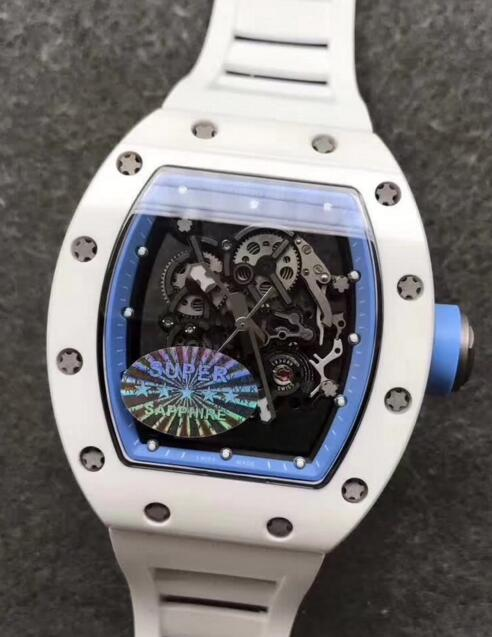 Replica Richard Mille Rm055 White Ceramic White Rubber watch reviews