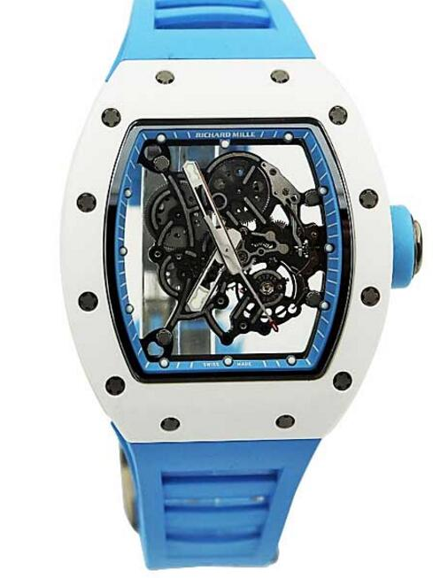 Richard Mille RM 055 Bubba Watson Asia Edition Blue Rubber watches for sale
