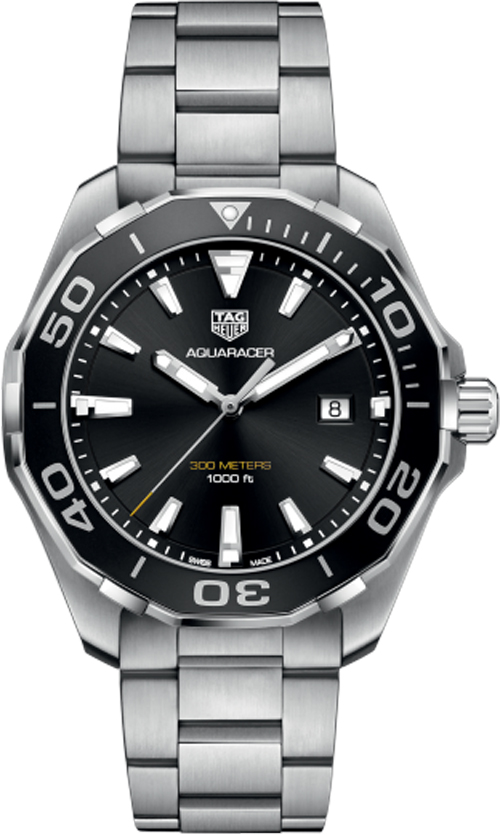 replica Tag Heuer Aquaracer 43mm Black Dial Men's Watch WAY101A.BA0746