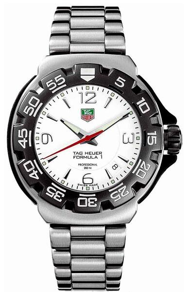 Tag Heuer formula 1 White Dial WAC1111.BA0850 watch review