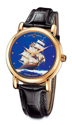 Ulysse Nardin 136-11 / FLC Classico Enamel San Marco Cloisonne Flying Cloud high quality watches