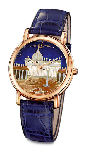 Ulysse Nardin 136-77-9 / ROM Classico Enamel San Marco Cloisonne Roma replica watch china