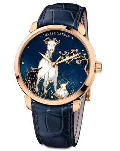 Cheap Ulysse Nardin 8156-111-2 / CHEVRE Classico Enamel Classico Goat Replica watches
