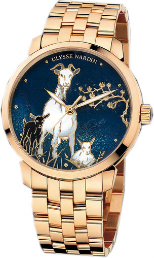 Fake Ulysse Nardin 8156-111-8 / CHEVRE Classico Enamel watches for sale