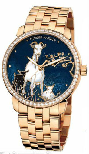 Fake Ulysse Nardin 8156-111B-8 / CHEVRE Classico Enamel Classico Champleve watches for sale