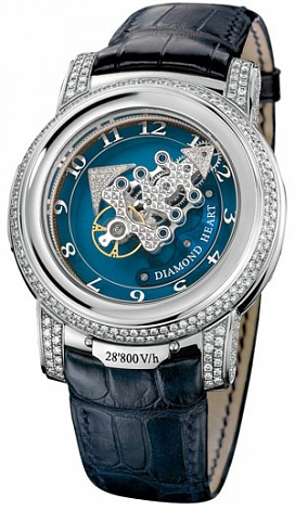 Ulysse Nardin 029-80 Complications Freak 28 800 V / h Diamond Heart replica watch