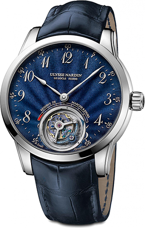 Ulysse Nardin Anchor Tourbillon Blue Enamel 1780-133 / E3 men's watches