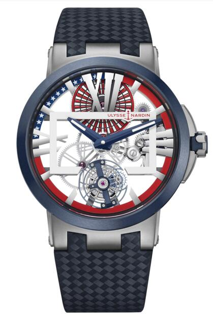 Ulysse Nardin Executive Skeleton Tourbillon Stars & Stripes 1713-139/US replica watches