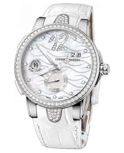 Fake Ulysse Nardin Dual Time 243-10B-3C / 691 women's watches