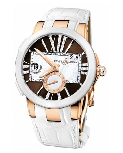 Fake Ulysse Nardin Dual Time 246-10 / 30-05 women's watches