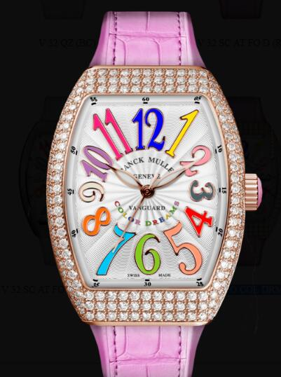 Franck Muller Vanguard Lady Classic Replica Watch Cheap Price V 32 SC AT FO COL DRM D (RS) 5N