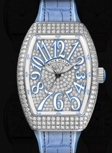 Franck Muller Vanguard Lady Classic Replica Watch Cheap Price V 32 SC AT FO D CD (BL)