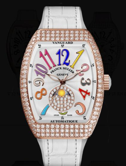 Franck Muller Vanguard Lady Moonphase Replica Watch Cheap Price V 32 SC FO L D CD 1P COLD