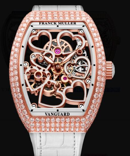 Franck Muller Vanguard Lady Heart Skeleton Replica Watch Cheap Price V 38 S6 SQT HEART D (BC)
