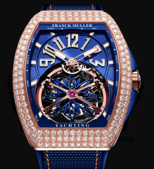 Franck Muller Gravity Yachting Watches for sale Cheap Price V 45 T GR CS D (BL) 5N