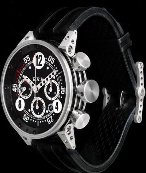 B.R.M Watch Fake V12-44-BN-AG V12-44-BN Brushed Stainless Steel - Rubber Strap