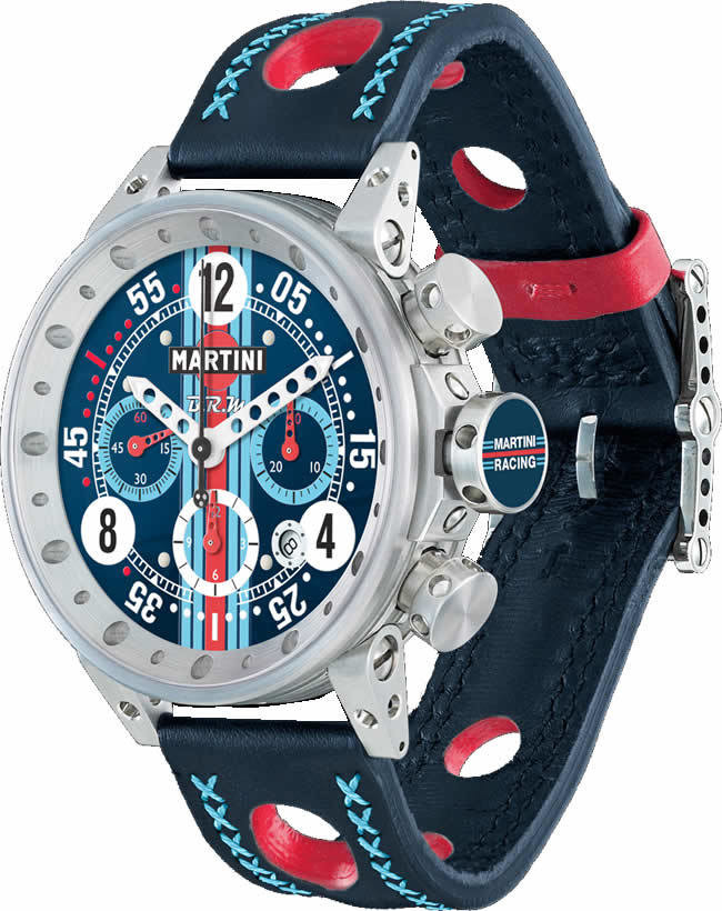 BRM V-12 watches fr sale BRM Martini Racing Navy Dial Limited Edition V12-44-MR-02