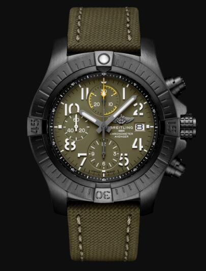 Breitling Avenger Chronograph 45 Night Mission DLC-Coated Titanium Replica Watch V13317101L1X2