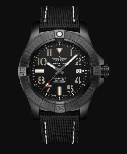 Replica Breitling Avenger Automatic 45 Seawolf Night Mission DLC-Coated Titanium - Black Bold Watch V17319101B1X1