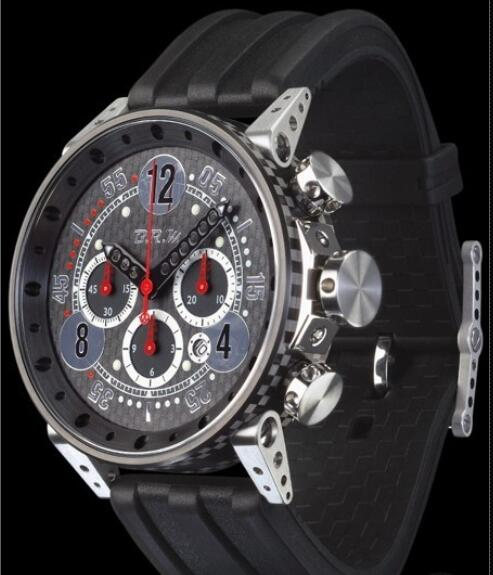 B.R.M Watch Fake V18-48-TN-CAP-ARN Black PVD Titanium - Rubber Strap