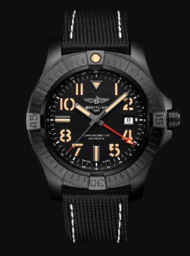 Replica Breitling Avenger Automatic GMT 45 Night Mission DLC-Coated Titanium - Black Bold Watch V32395101B1X3