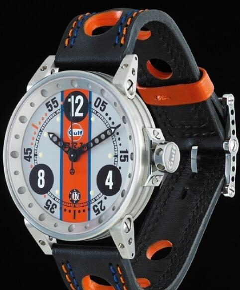 Replica B.R.M Watch V6-44 Gulf V6-44-GU-G-AN-2 Brushed Stainless Steel - Grey Dial