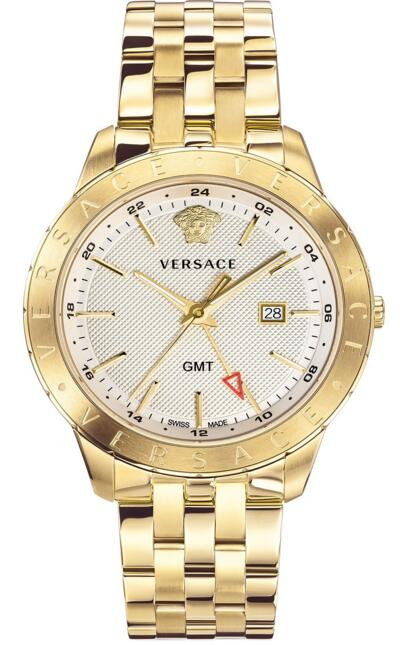 Versace VEBK00518 Business Slim Champagne Stainless Steel 43 mm Replica watch