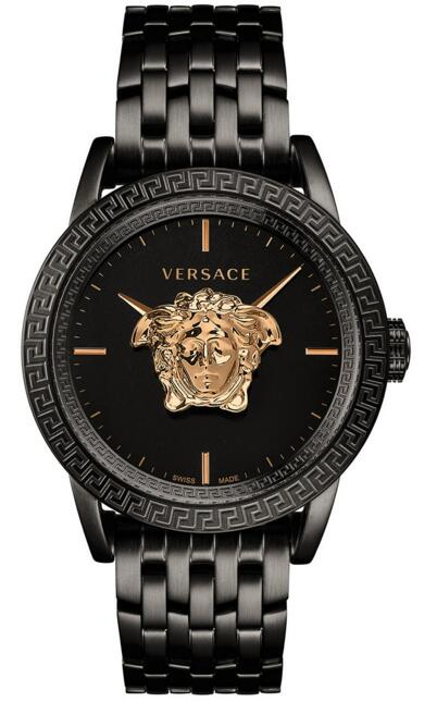 Versace VERD00518 Palazzo Empire Black Ion-Plated Stainless Steel Replica watch