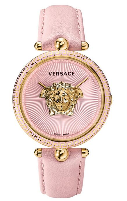 Replica Versace Palazzo Empire VCO030017 Pink leather watch