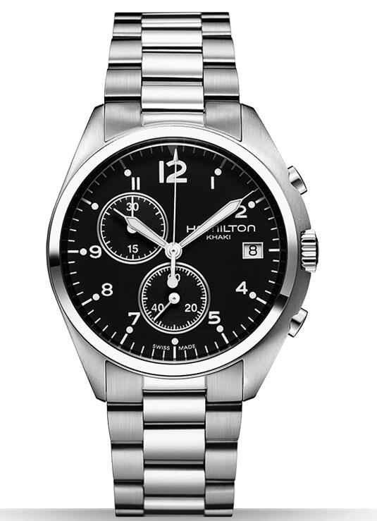 Hamilton Khaki Pilot Pioneer Chrono Quartz H76512133 replica watch
