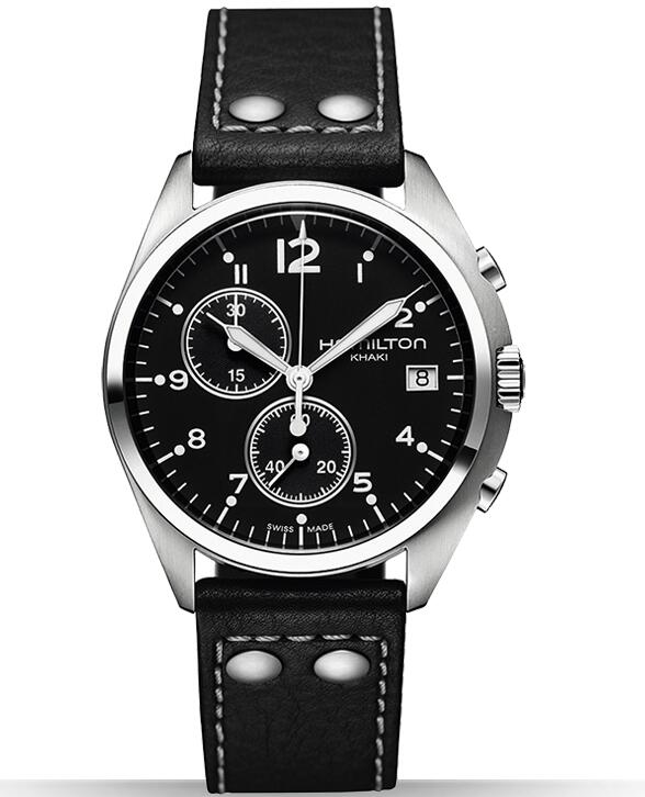 Hamilton Khaki Pilot Pioneer Chrono Quartz H76512733 watch bands