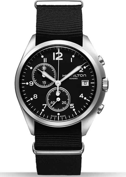Hamilton Khaki Pilot Pioneer Chrono Quartz H76552433 replica watch