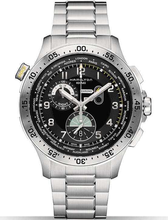 Hamilton Khaki Aviation Chrono Worldtimer H76714135 watch review