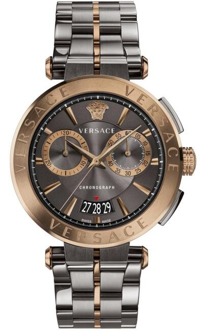 Replica versace Chronograph Aion Two-Tone Stainless Steel VBR050017 watch sale