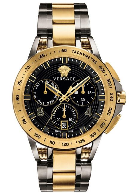 Replica versace VERB00418 Sport Tech Two-Tone Stainless Steel mens watch sale