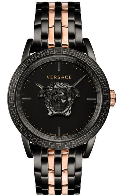 Versace Palazzo Empire VERD00618 Rose Gold & Black Ion-Plated Bracelet 43mm watch Price